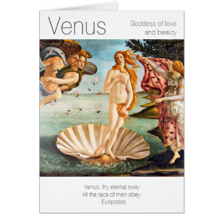 Venus Goddess of Love and Beauty Card