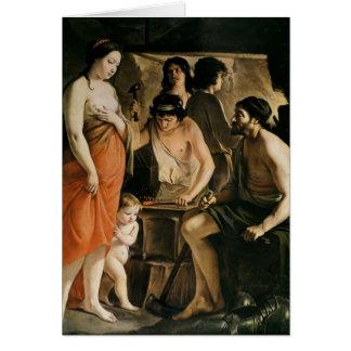 Venus in Vulcan's Forge, 1641 Card
