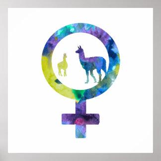 Venus Llamas Poster