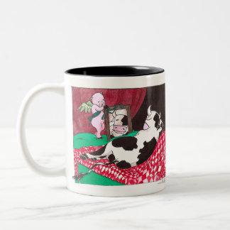 Venus of the mirror Two-Tone coffee mug