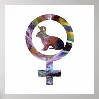 Venus Rabbit Poster