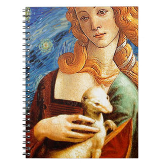 Venus with a Ermine in a Starry Night Notebooks