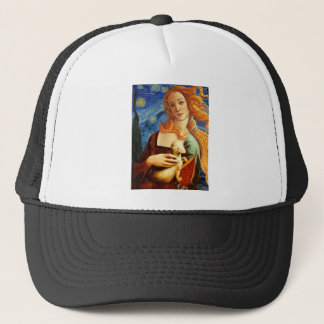 Venus with a Ermine in a Starry Night Trucker Hat