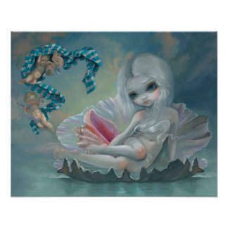 Venus with Cherubs ART PRINT lowbrow art big eyes