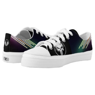 Veprak coustom zip low top shoes printed shoes