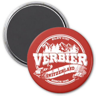 Verbier Old Circle Red Magnet