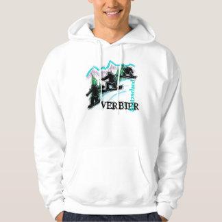 Verbier Switzerland snowboard hoodie