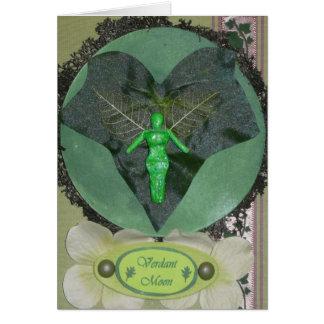 Verdant Fairy Moon Greeting Card