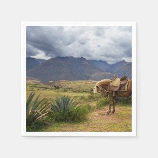 Verdant Sacred Valley Horse Disposable Serviettes