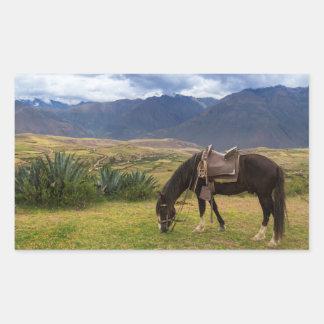 Verdant Sacred Valley Horse II Rectangular Sticker