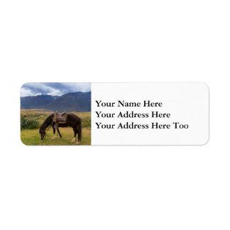 Verdant Sacred Valley Horse II Return Address Label