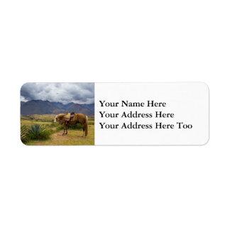 Verdant Sacred Valley Horse Return Address Label