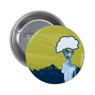 verdant thought 6 cm round badge