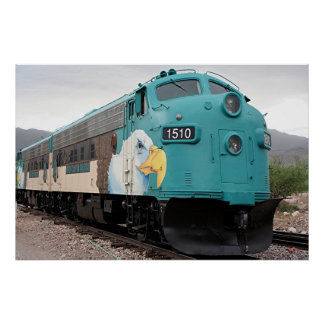 Verde Canyon train locomotive, Arizona Poster