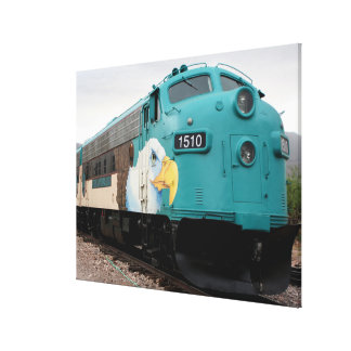 Verde Canyon Train Locomotive, Arizona, USA Canvas Print