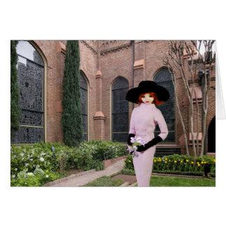 Verdi - Pink Attire,  Spring at Christ Church Card