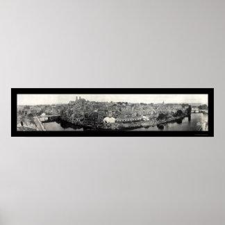 Verdun France WWI Damage Photo 1919 Poster
