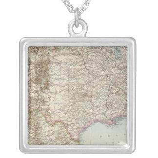 Vereinigte Staaten von Nordamerika - USA Map Silver Plated Necklace
