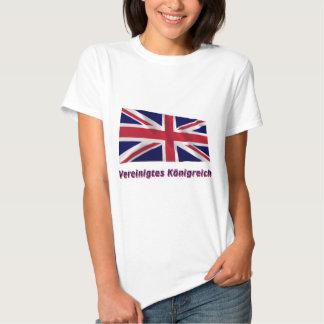 Vereinigtes Königreich Fliegende Flagge mit Namen Shirts