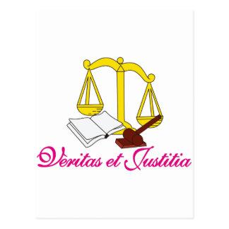 Veritas et Justitia Postcard