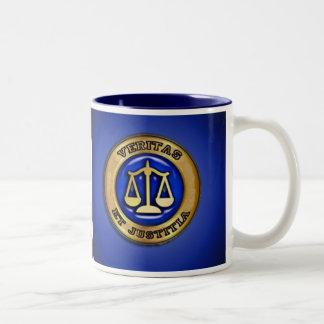 VERITAS ON BLUE Two-Tone COFFEE MUG