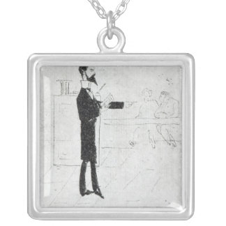 Verlaine teaching at the Institution Silver Plated Necklace