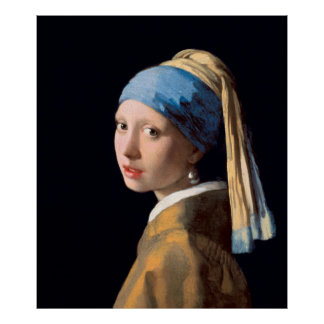 VERMEER - Girl with a pearl earring 1665 Poster