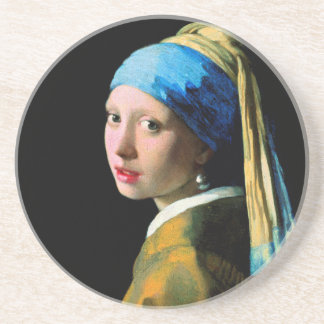 Vermeer - Girl with a Pearl Earring Coaster