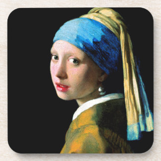 Vermeer - Girl with a Pearl Earring Drink Coaster