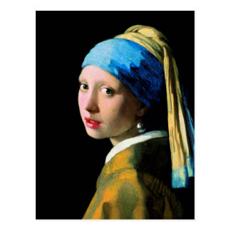 Vermeer - Girl with a Pearl Earring Postcard