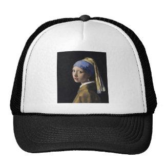 Vermeer Painting - Girl With a Pearl Earring Cap