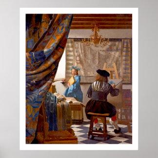 Vermeer - The Art of Painting - Vintage Art Poster