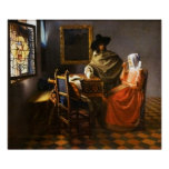 Vermeer The Glass of Wine Poster