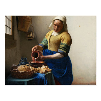 Vermeer The Milkmaid Postcard