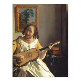 Vermeer van Delft, Jan Die Gitarrenspielerin The G Postcard
