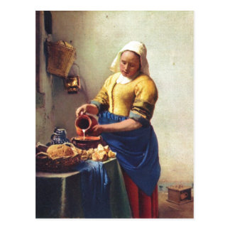 Vermeer van Delft, Jan Milchausgie?ende Magd The M Postcard
