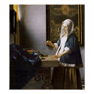 Vermeer: Woman Holding a Balance Poster