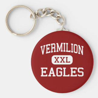 Vermilion - Eagles - Catholic - Abbeville Keychain