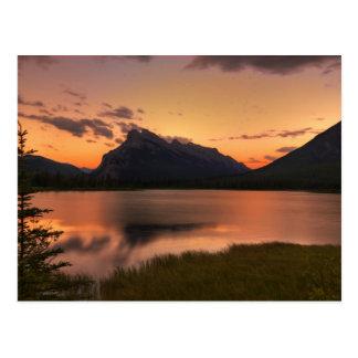 Vermilion Lakes Sunset Postcard