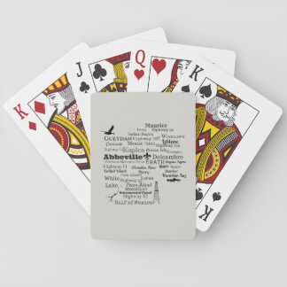 Vermilion Parish Cities and Places Playing Cards
