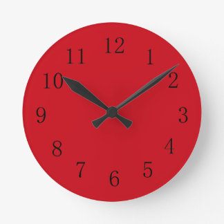 Vermilion Red Kitchen Wall Clock