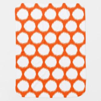 Vermillion Asian Moods Ikat Dots Baby Blanket