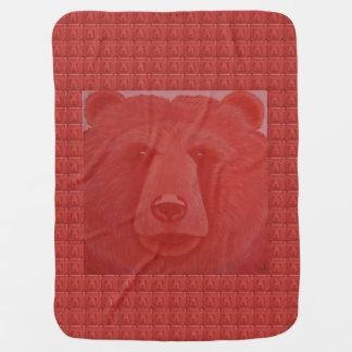 Vermillion Bear Baby Blanket