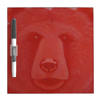 Vermillion Bear Dry Erase Board