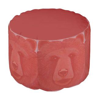 Vermillion Bear Pouf