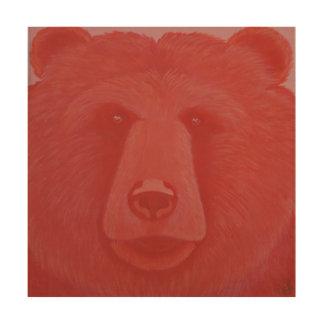 Vermillion Bear Wood Wall Panel Wood Print