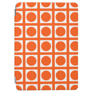 Vermillion Elegant Grid Dots iPad Air Cover