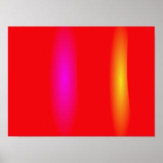 Vermillion Minimalism Poster