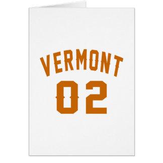 Vermont 02 Birthday Designs Card