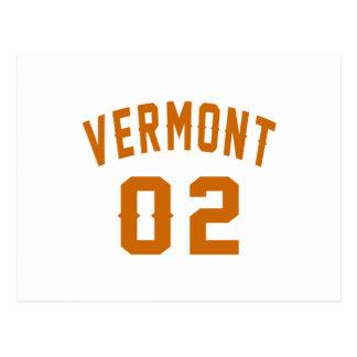 Vermont 02 Birthday Designs Postcard
